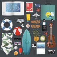 Illustratie van de zomer verpakking spullen