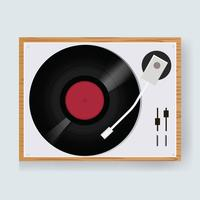 Illustration of a vintage vinyl disc player