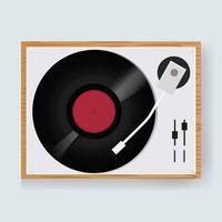 Illustration d'un lecteur de disque vinyle vintage