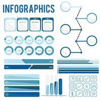 Infografía azul vector