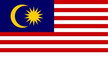 Illustration du drapeau de la Malaisie
