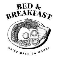 Vector de diseño de logotipo de cama y desayuno