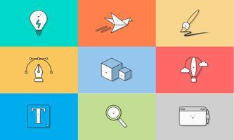 Illustration av grafiska design ikoner uppsättning