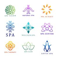 Set of colorful spa logo vectors