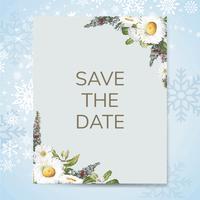 Guardar la fecha invitación de boda maqueta vector de tarjeta