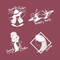 Set av kvinnors skönhet och stil ikoner vektor