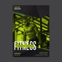 Fitness strength training poster vector