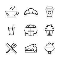 Set van restaurant pictogram vectoren