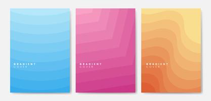 Conjunto de diseños gráficos de la cubierta del gradiente.