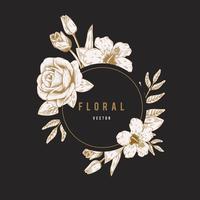 Round floral label