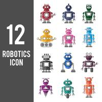 Illustration of robot icons set