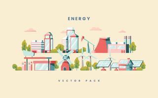 Energy saving concept vector in yellow