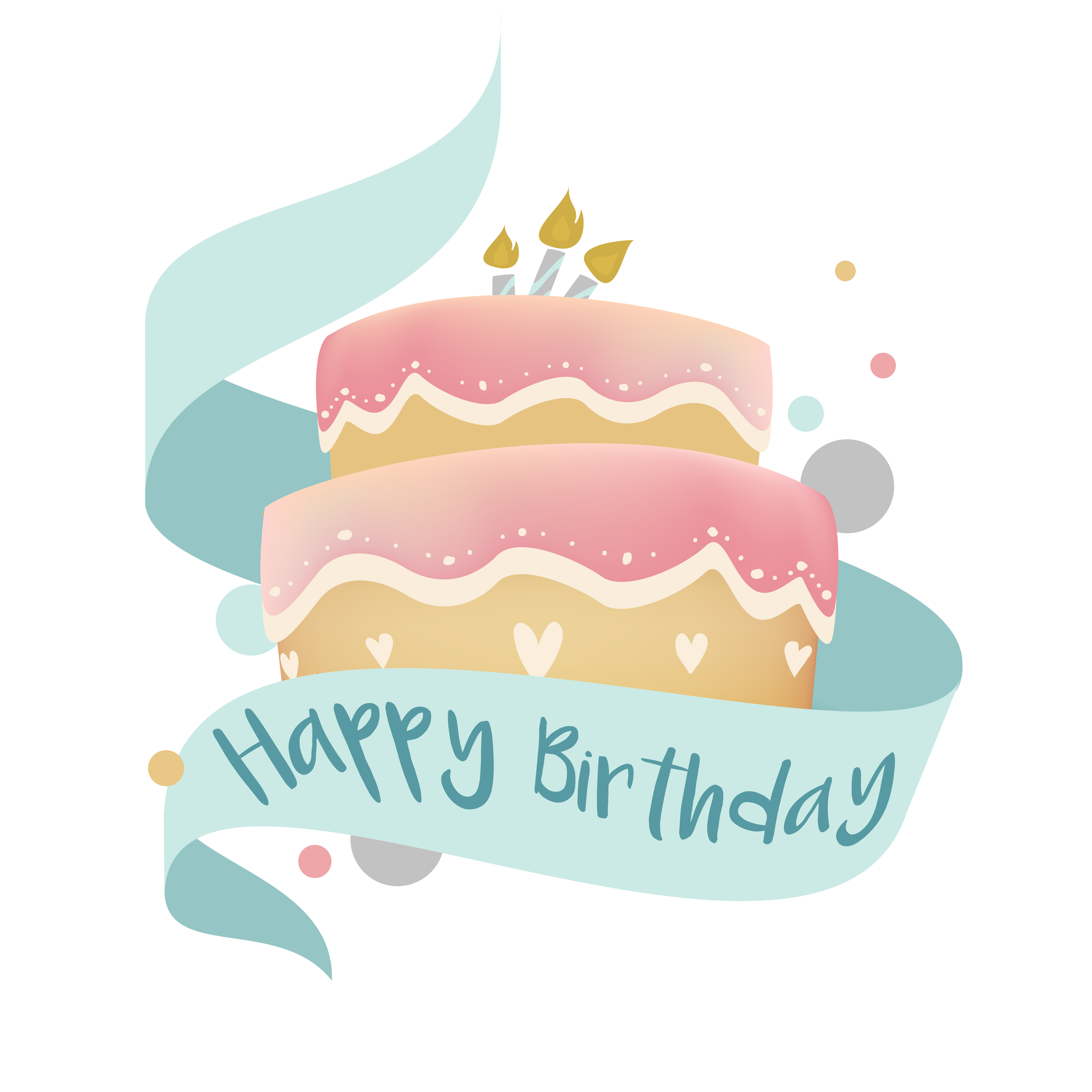 Wondrous Happy Birthday Cake Design Vector Download Free Vectors Clipart Funny Birthday Cards Online Inifofree Goldxyz