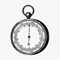 Barómetro aneroide de estilo vintage.