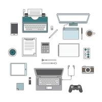 Vector of office supplies