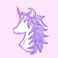 Licorne d'illustration isolée sur fond