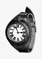 Vintage style wrist watch vector