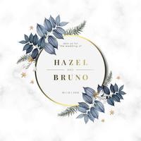 Design de convite de casamento floral
