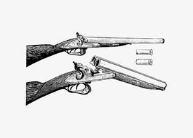 Pistola en estilo vintage