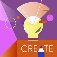 Illustrazione della lampadina creativa