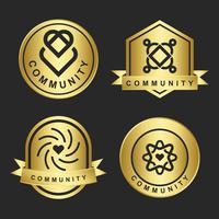 Conjunto de muestras de diseño de logotipo de marca comunitaria