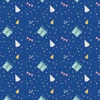 Blauer festlicher Geburtstagsdesignvektor
