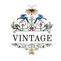 Tappning blomstra prydnad illustration