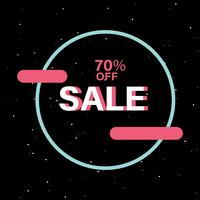 70% korting op SALE badge vector