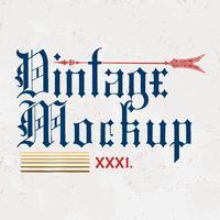 Vecteur de conception de logo Vintage maquette
