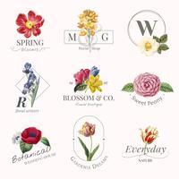 Lot de logos de marques de fleurs