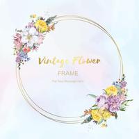 Emblema emoldurado flor
