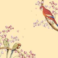 Papegojor mockup gränsen