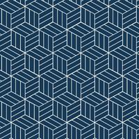 Seamless Japanese-inspired geometric pattern vector