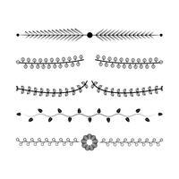Concepto de diseño de vectores de colección de adornos