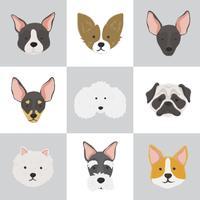 Ilustración de diferentes razas de perros.