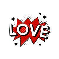Amor explosión vector