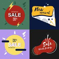 Set of sale advertising graphics