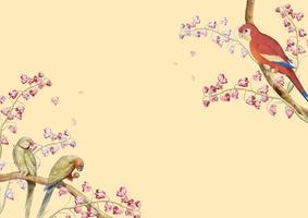 Bordure de maquette de perroquets