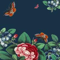 Chinesische Malerei, die Blumen- und Schmetterlings-Tapete kennzeichnet