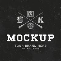 Vintage mockup logo design vektor