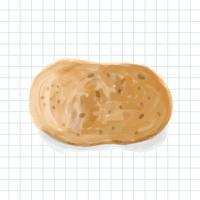 Handritad potatis akvarell stil