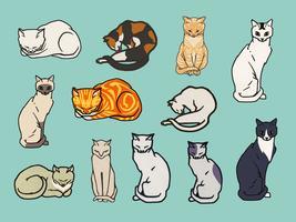 Set di gatti Elementi di pubblico dominio, modificati da rawpixel.