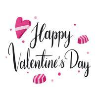 Lycklig valentines dag typografi vektor