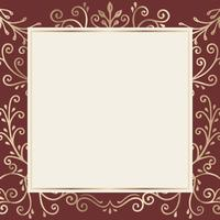 Gold frame background
