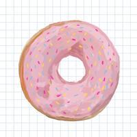 Mão desenhada donut estilo aquarela