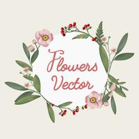 Beautifully designed flowers vector