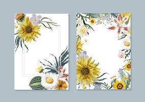 Blom- hälsningskort