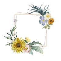 Emblema de moldura floral