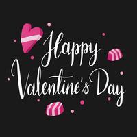 Vecteur de typographie heureuse Saint Valentin