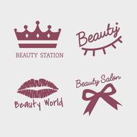 Satz Schönheitssalon-Ikonenvektoren